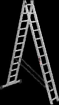 Алюминиевая двухсекционная лестница Stark SVHR2x12