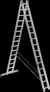 Алюминиевая двухсекционная усиленная лестница Stark SVHR2x15pro