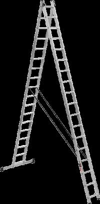 Алюминиевая двухсекционная усиленная лестница Stark SVHR2x17pro