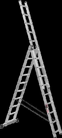 Алюминиевая трехсекционная лестница SVHR3x10