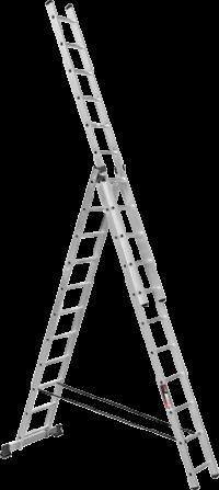 Алюминиевая трехсекционная лестница SVHR3x11
