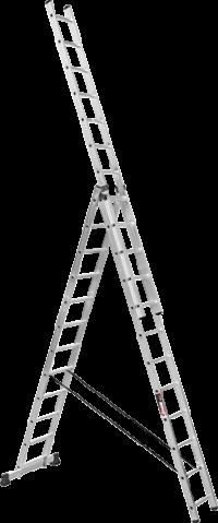 Алюминиевая трехсекционная усиленная лестница SVHR3x12pro