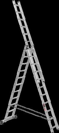 Алюминиевая трехсекционная лестница SVHR3x12
