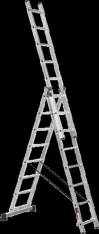 Алюминиевая трехсекционная лестница SVHR3x9