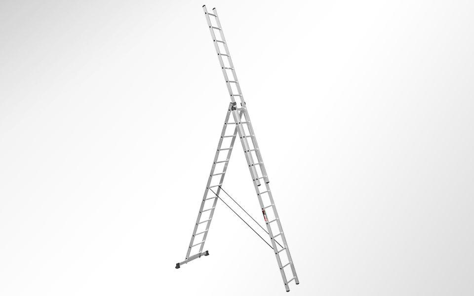 Алюминиевая трехсекционная лестница SVHR3x13